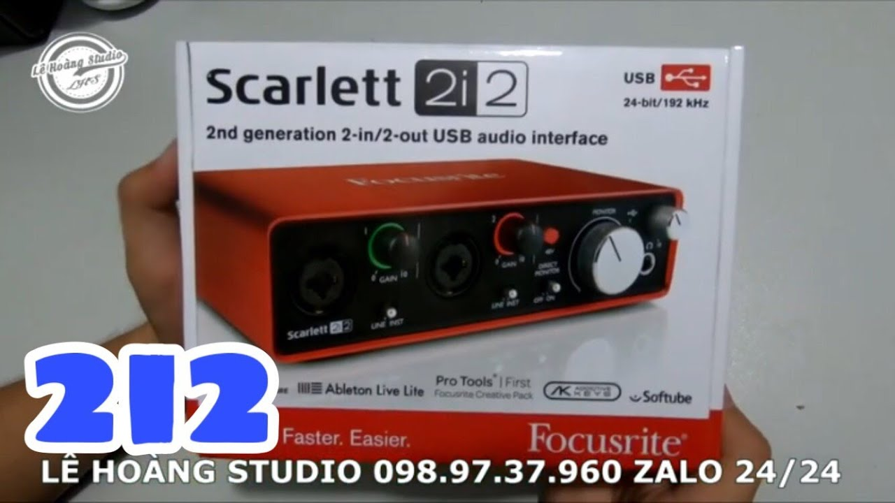 LHS   ✅ Soundcard Scarlett 2i2 Thu Âm Chuyên Nghiệp Cho Phòng Thu Tại Nhà   098.97.37.960 Zalo