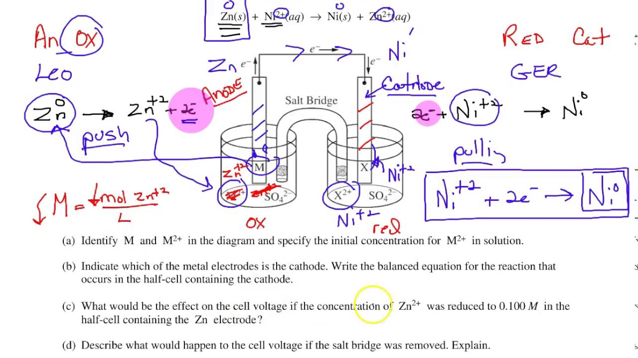 Review of Intro Voltaic Cells worksheet 1   YouTube