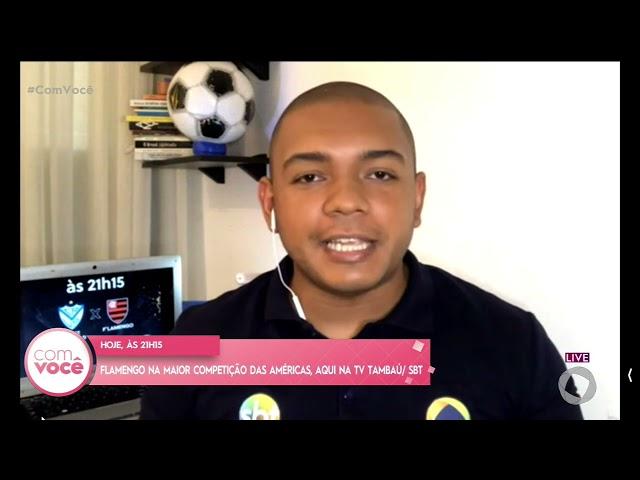 Flamengo na maior competição das américas, aqui na TV Tambaú/SBT- Com Você