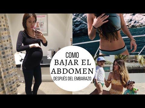 Como bajar el abdomen después del embarazo