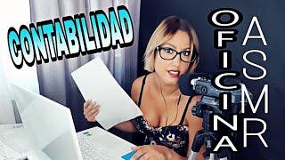 ASMR CONTABILIDAD OFICINISTA- TECLADO/PAPEL/SUSURROS