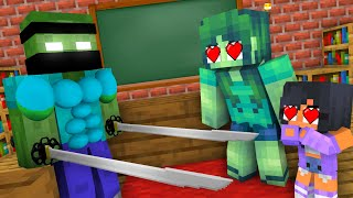 Monster School : EPIC ZOMBIE SAMURAI CHALLENGE - Minecraft Animation