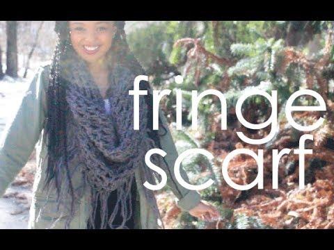 Crochet Fringe Scarf Youtube