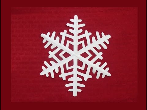 Paper snowflake 1 - Detailed tutorial - Beginner level - Can YOU do it?