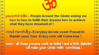 Wish Fulfilling Mantra Trick