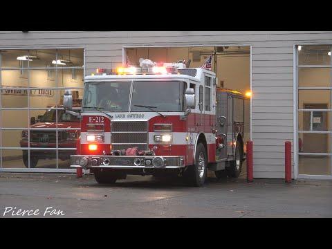 Engine 213 Responding Lake Oswego Fire Department (2001 Pierce Dash) [4K]