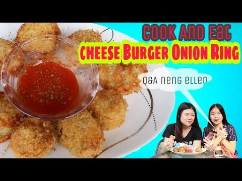 Cheese burger onion ring