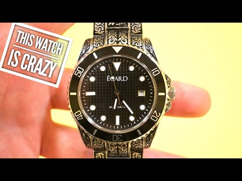 EGARD Poseidon Automatic Watch Review - Custom Engraved Diver! WOW