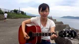 優海 優しい海 大好きな加太の海をバックに 歌ってみました。