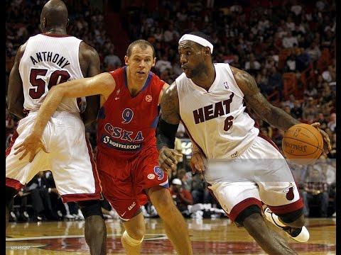 CSKA Moscow @ Miami Heat 2010 NBA Euroleague Preseason Basketball FULL GAME Russian