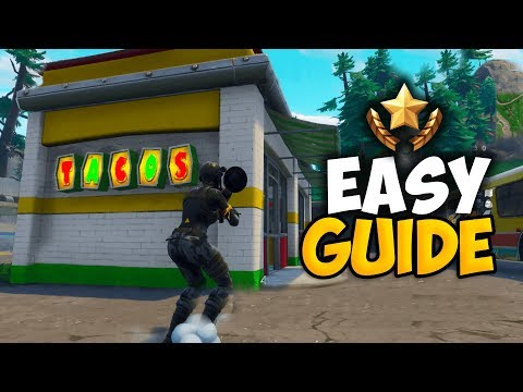 Fortnite: Visit 3 Different Taco Shops In A Single Match (EASY GUIDE) WEEK 9 BATTLE PASS CHALLENGES!