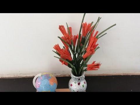 DIY Arecanut Palm leaf Flowers(Type..9)/ Craft India/ Tutorial