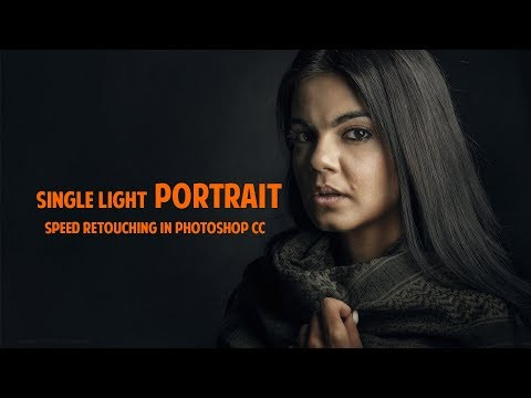 Single light Portrait Speed retouching in Photoshop CC thumbnail