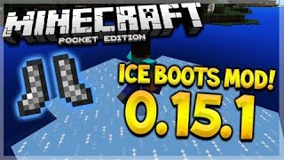 Minecraft POCKET EDITION ICED BOOTS MOD! 0.15.1 Frost Walker Mod