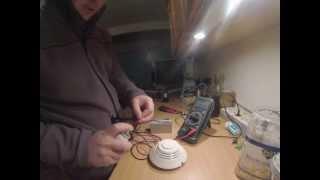 ALARME Incendie - Test detecteur optique de fumée avec sortie 12V