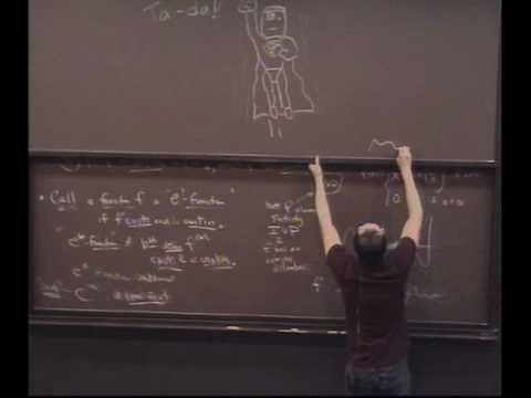 Real Analysis, Lecture 24: The Derivative and the Mean Value Theorem