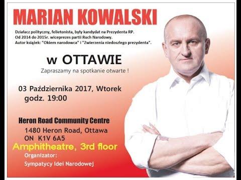 Marian Kowalski w Ottawie 3 X 2017