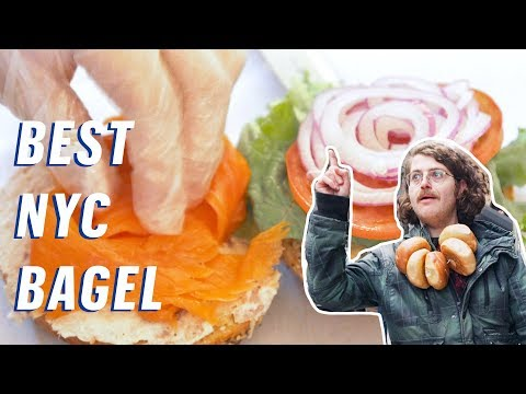 The Best Cheap Bagel In NYC || 5 Buck Lunch