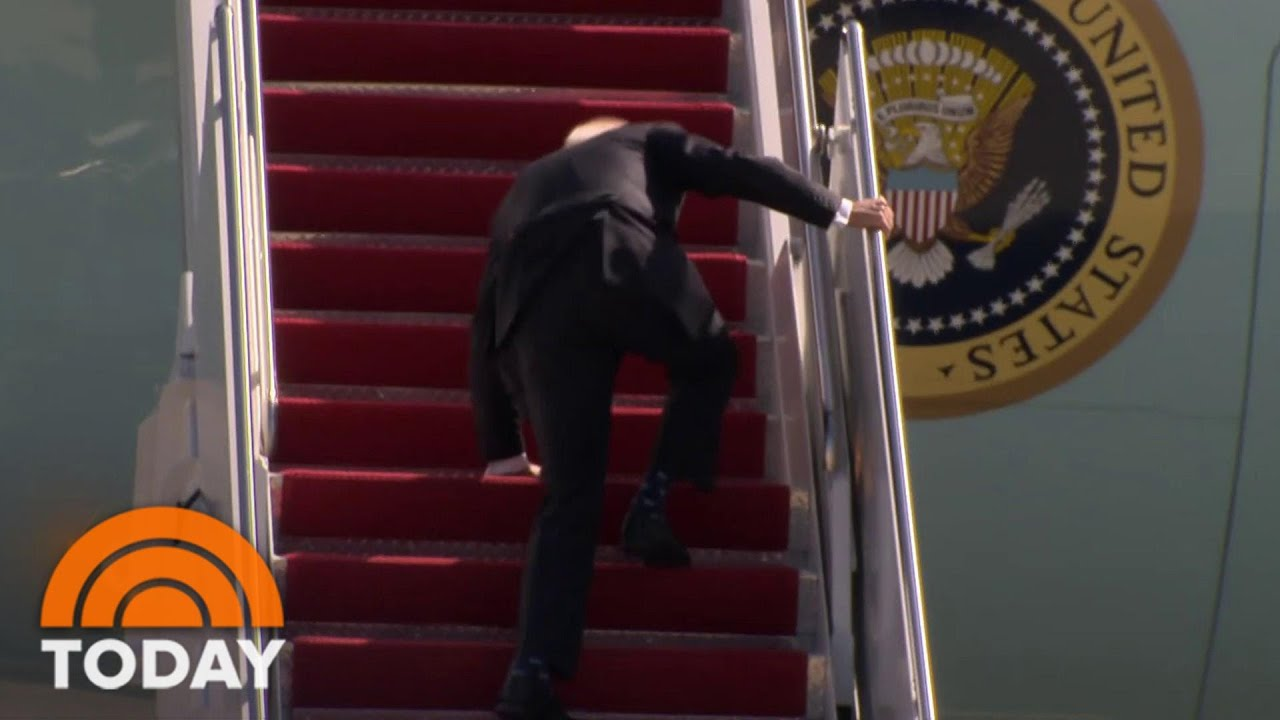 President Joe Biden 'Doing Fine' After He Tripped Walking Up To Air Force One   TODAY