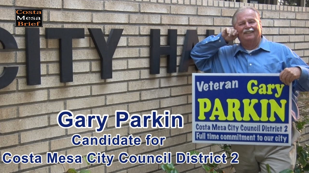 Gary Parkin Candidate for City Council District 2 – 2020