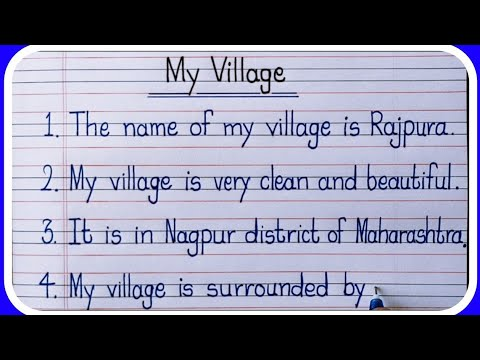 Download 10 Lines on My Village in English/My Village 10 lines Essay Writing in English_Learn Essay Speech