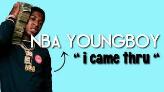 nba yougboy - i came thru (snippet, leak)