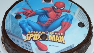 Gateau Spiderman  Choco Nutella (cuisinerapide)