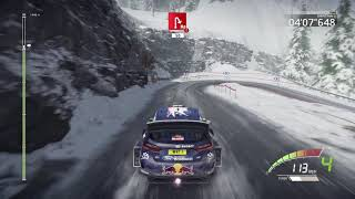 WRC 7 (PS4, 2017) gameplay - Monte Carlo Rally - All 4 Stages