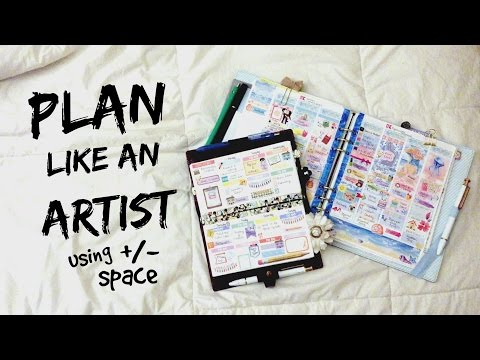 No White Space Planning vs. White Space Planning || Plan Like An Artist