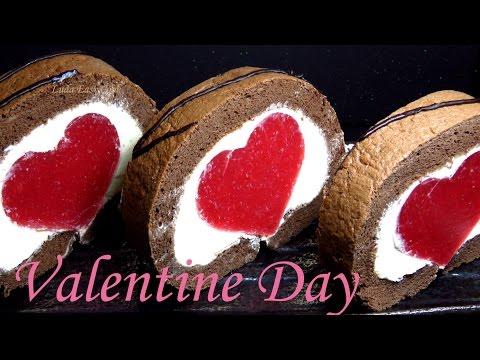 clip làm bánh Ngày VALENTINE – BÁNH BÔNG LAN cuộn hình TRÁI TIM cho NGƯỜI YÊU [LUDA LÀM BÁNH]