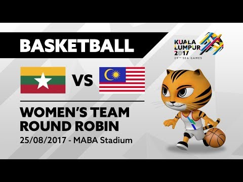 KL2017 29th SEA Games | Women's Basketball - MYA 🇲🇲 vs MAS 🇲🇾 | 25/08/2017