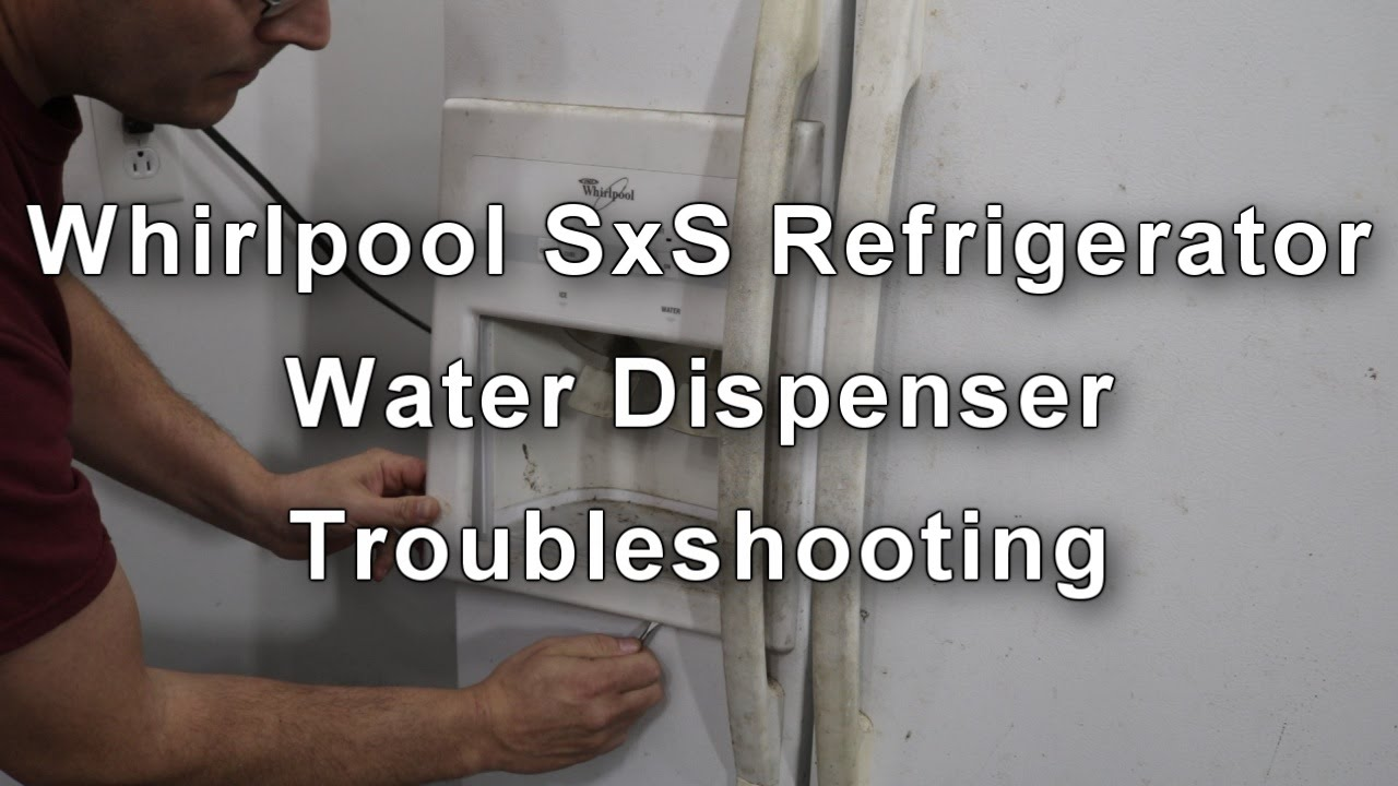 hight resolution of whirlpool refrigerator water dispenser not working how to repair youtube