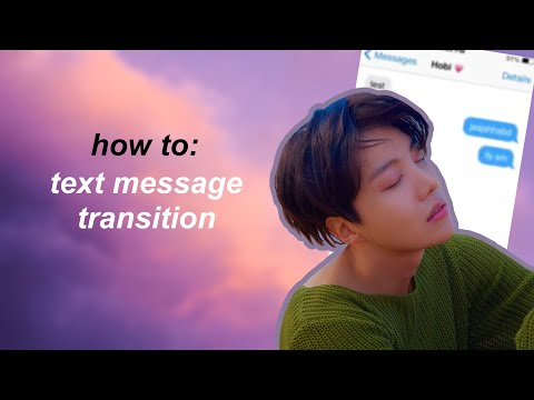 Cute Cut (P) tutorial | Text message transition
