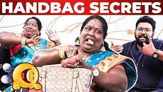 Chinna Ponnu Handbag Secrets Revealed by VJ Ashiq | Ultimate Comedy | What's Inside the HANDBAG