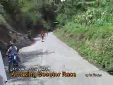 Only in the Philippines: Riding on Wooden Scooters at 50 Kilometers Per Hour