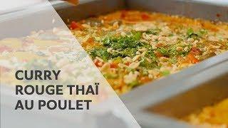 Recette : Curry rouge thaï au poulet   RATIONAL SelfCookingCenter