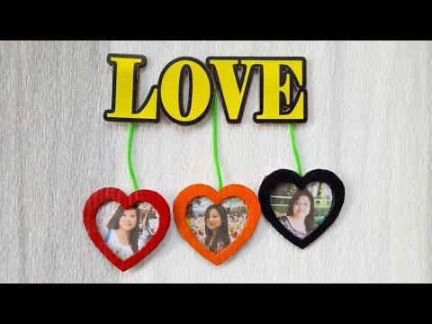 Unique Love Photo Frame/ Cardboard Photo Frame/ DIY Photo Frame