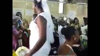 Love Is Defo Real: Really Tall Wife And Average Height Husband Wed In Nigeria!