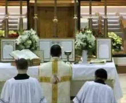Latin Mass Montage Fr. Fryar FSSP