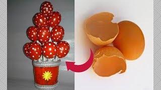 How to Reuse Eggshells  wonderful idea for room decoration   diy egg shell reuse idea dustu pakhe 