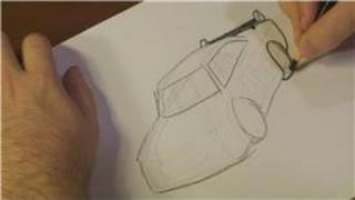 How to Draw Vehicles : How to Draw a NASCAR Car