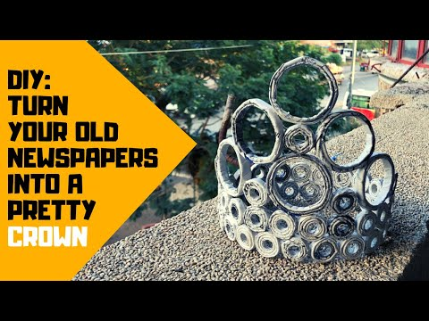 How to Make a Newspaper Crown (Circles)