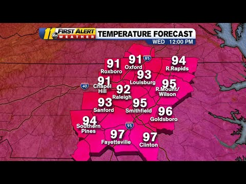 Weather: Central North Carolina To See Near Record-breaking Heat Wednesday