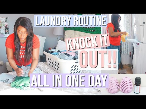 HOW TO MAKE LAUNDRY DAY EASIER! NEW WEEKLY LAUNDRY ROUTINE + LAUNDRY TIPS   NIA NICOLE