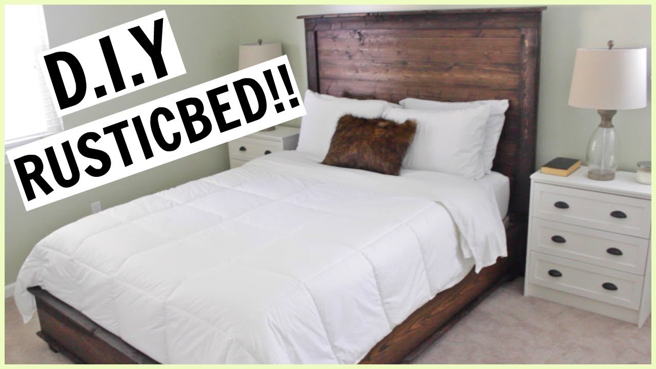 diy rustic bed from scratch - Diy Rustic Bed Frame