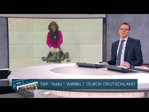 Wetter Moderatorin Susanne Schöne live vom Fichtelberg im Erzgebirge für N24