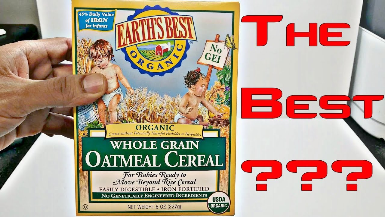 Earth S Best Organic Whole Grain Oatmeal Cereal Review Youtube