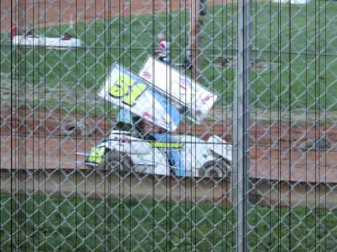 Chris Gerhart at the Clyde Martin Memorial Speedway in his 600 micro sprint