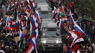 Lavrov'a Şam'da çoşkulu karşılama