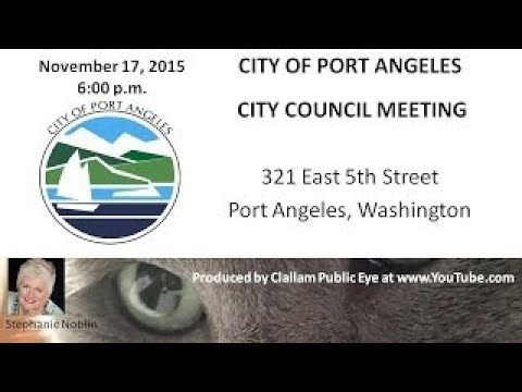 2017 11 18 Port Angeles City Council Meeting